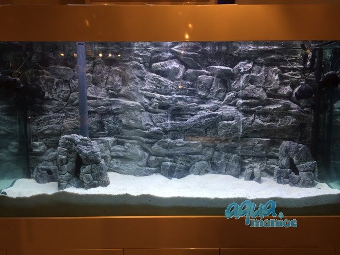 aquarium background for juwel aquarium rio 400 3d grey. Black Bedroom Furniture Sets. Home Design Ideas