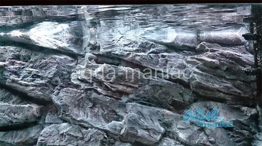 3D grey rock background 77x36cm