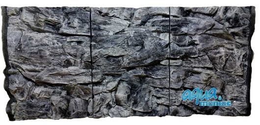 JUWEL RIO 300 3D grey rock background 117x54cm in 3 sections