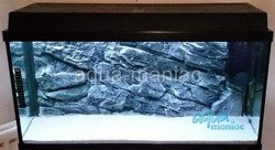 3D grey rock background 57x27cm