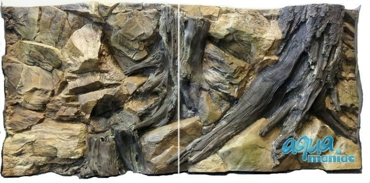 3D Background Root 77x54cm to fit Aqua One Oak  145