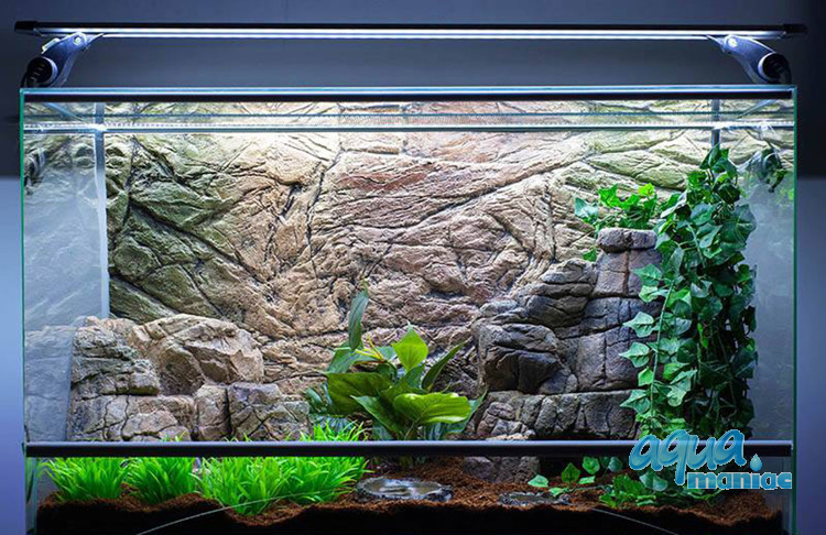 3D Background Thin Rock 97x45cm to fit Aqua Oak 110 Aquarium