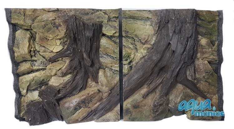 3D Root Background 117x56cm in 2 section to fit 4 foot by 2 foot tanks