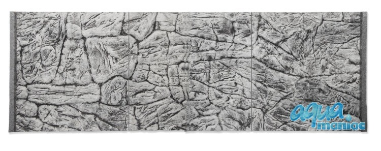 3D Thin Grey Rock Background 178x58cm in 3 section to fit 6 foot by 2 foot tanks