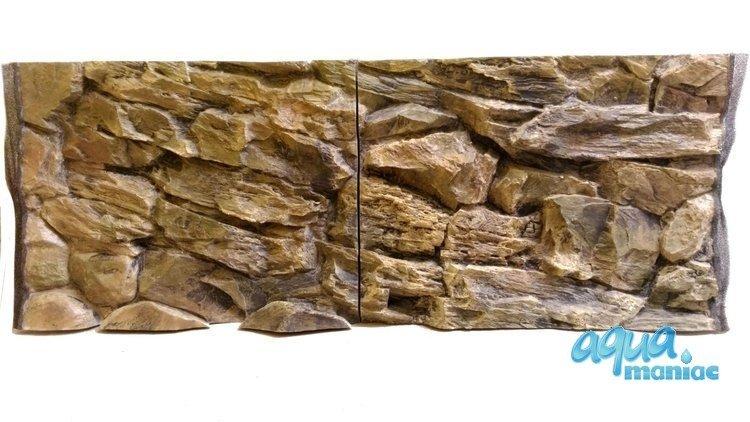 3D beige rock background 113x54cm to fit Aqua One 230 fish tank