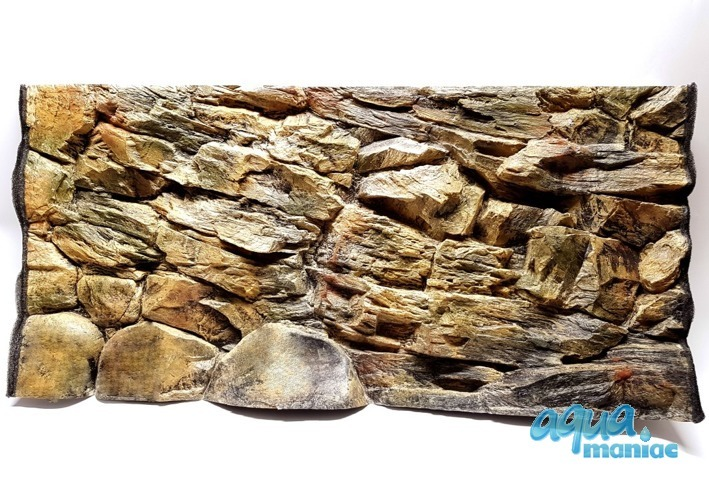 3D beige rock background 117x54cm in one piece