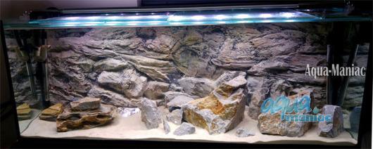 3D beige rock background 146x54cm