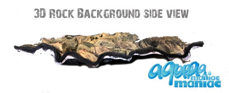 3D beige rock background 57x27cm
