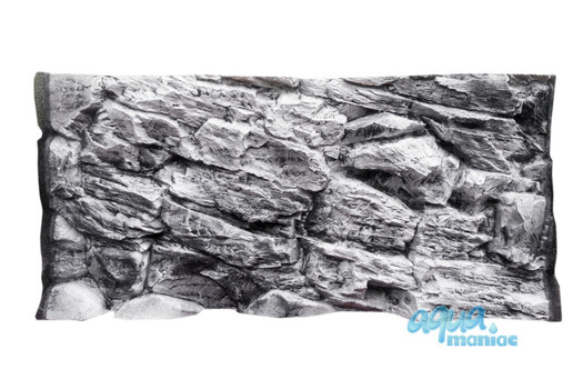 3D grey rock background 117x45cm