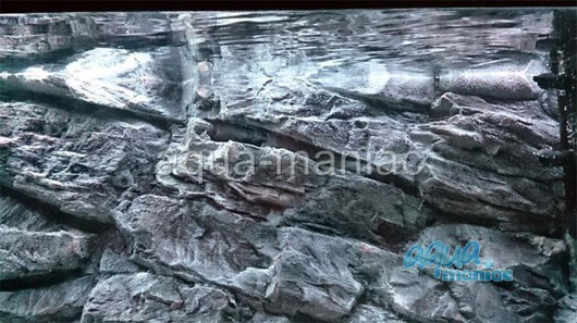 3D grey rock background 196x54cm