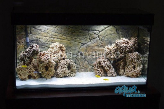 3D thin rock background 196x45cm
