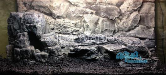 Bundle of long and large grey aquarium rocks