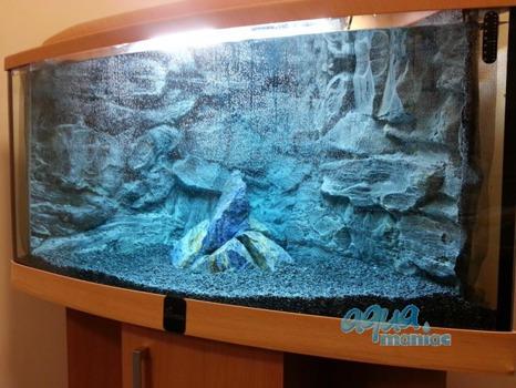 JUWEL Trigon 350 3D grey rock background in 2 sections