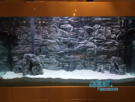 Juwel Vision 400 Grey Rock Background 146x54cm in 3 sections
