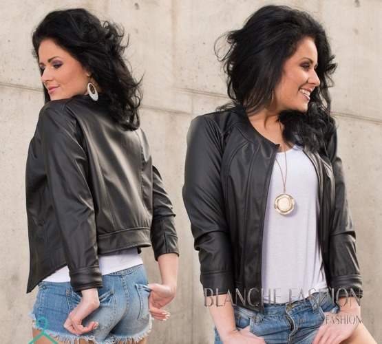 Ladies elegant sexy jacket Eco Leather size 10