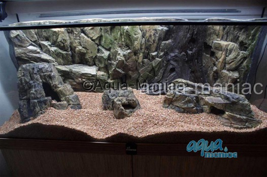 Long beige aquarium rock