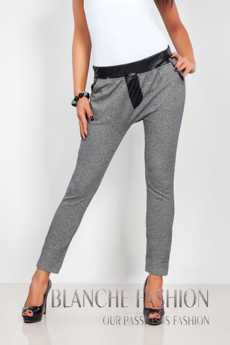 Loose Fit Trousers Mid Rise graphite