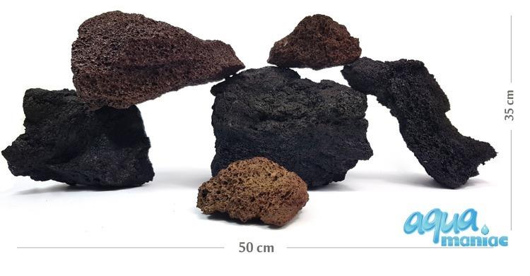 Natural Carved Black Lava Rock