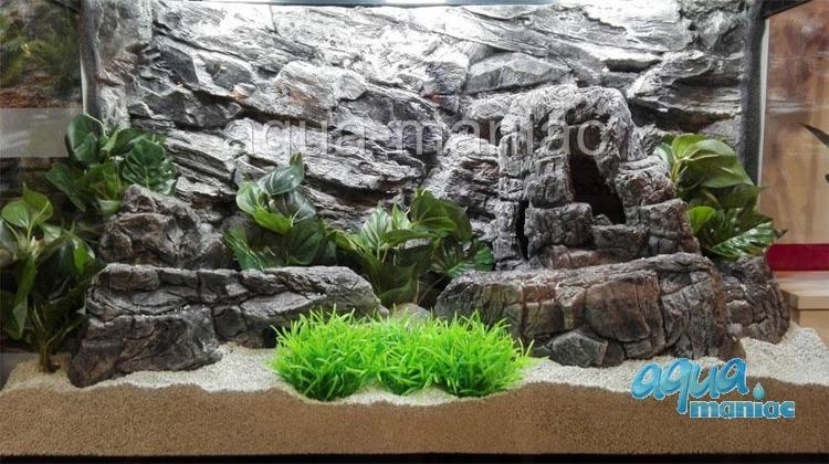 XXL grey aquarium rock
